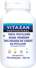 100% Psyllium Husk Powder Enriched 550 mg