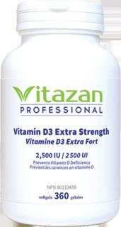 Vitamin D3 2500 IU 360 Softgels